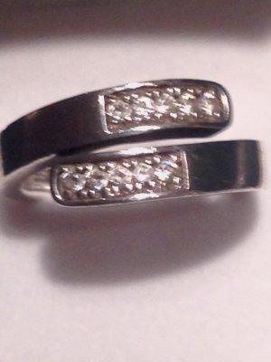 Modischer ESPRIT Ring aus Silber mit Zirkoniasteinen