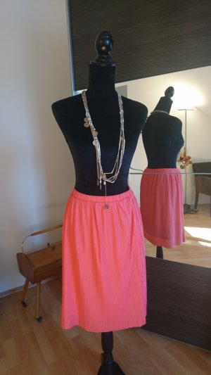 Pieces Pleated Skirt salmon