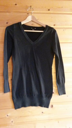 H&M Wool Sweater black wool
