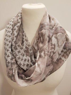 Sciarpone grigio chiaro-rosa pallido