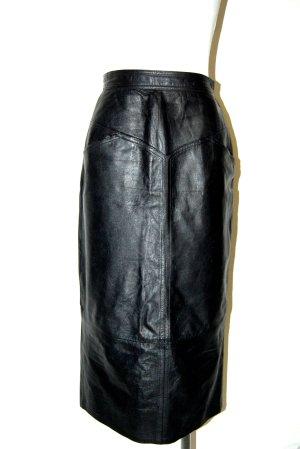 modischer Maxirock - Lederrock in schwarz von Marc Phil Gr.36