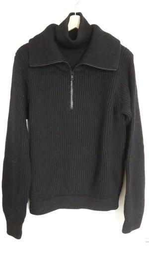 Modischer Pullover aus reiner Merinowolle von Rene Lezard in Gr 36