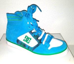 modischer - Sportschuh - Leder Sneaker High Skater petrol von dcshoes - Gr. 40,5