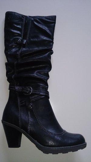 Modischer Stiefel schwarz neu