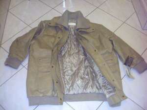 Modischer,warmer Lederblouson *VENEZIA*made in USA-Gr.50/52-Camel/Khakibeige-NEU