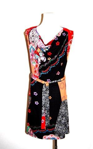 modisches Kleid - bunt mit Bindegürtel von Smash Gr. M