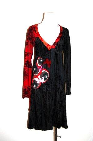 modisches Kleid - schwarz-bunt von Desigual Gr. S/ M