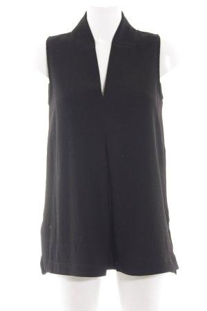 Modström ärmellose Bluse schwarz Elegant
