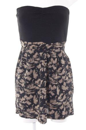 Modström Robe bandeau noir-brun sable motif abstrait style décontracté