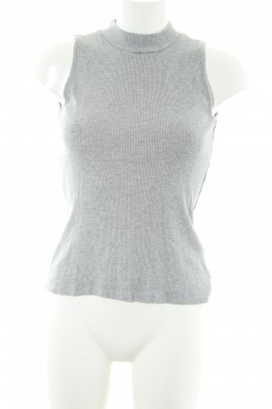 Modström Cardigan en maille fine gris clair moucheté style décontracté