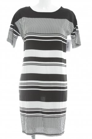 Modström Hooded Dress black-white striped pattern simple style