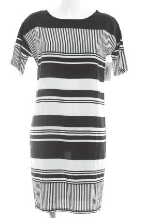 Modström Kapuzenkleid schwarz-weiß Streifenmuster schlichter Stil