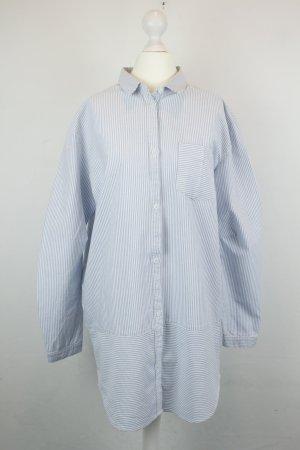 Modström Kleid Hemdblusenkleid Gr. S Oversized blau weiß