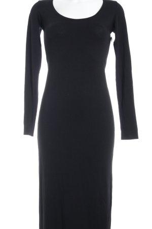 Modström Langarmkleid schwarz schlichter Stil