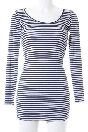 Modström Longsleeve dunkelblau-weiß Streifenmuster Casual-Look