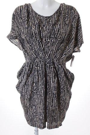 Modström Minikleid schwarz-beige abstraktes Muster Casual-Look