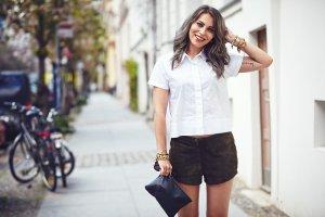 Modström Oversized Bluse weiß schlichter Stil