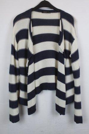 Modström Veste en tricot bleu foncé-blanc coton
