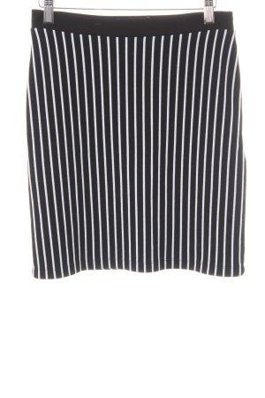 Modström Gonna lavorata a maglia nero-bianco motivo a righe stile casual