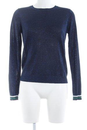 Modström Camisa tejida azul oscuro look casual