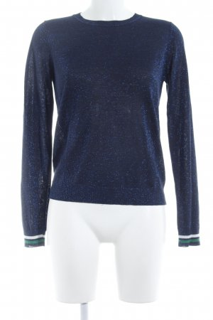 Modström Strickshirt dunkelblau Casual-Look