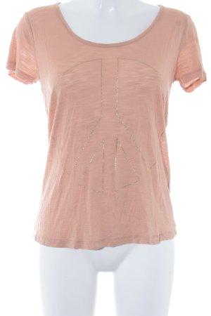Modström T-Shirt apricot-goldfarben meliert Casual-Look