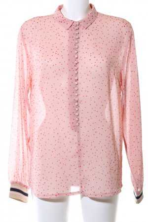 Modström Transparenz-Bluse pink Allover-Druck Business-Look
