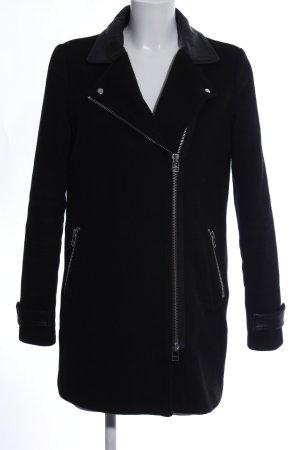 Modström Abrigo de lana negro estilo «business»