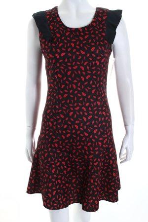 Mötivi A-Linien Kleid schwarz-rot abstraktes Muster Lolita-Look