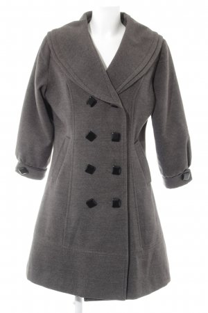 Mötivi Heavy Pea Coat grey flecked casual look