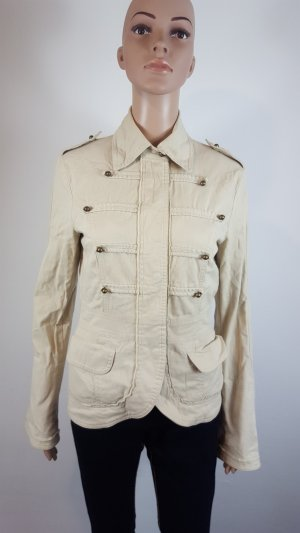 Mötivi Pea Jacket sand brown cotton