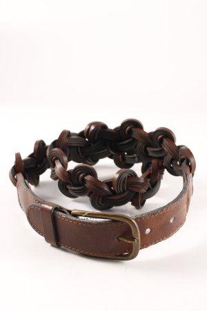 Mötivi Cinturón trenzado marrón look casual