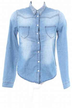 Mötivi Chemise en jean bleuet style mode des rues