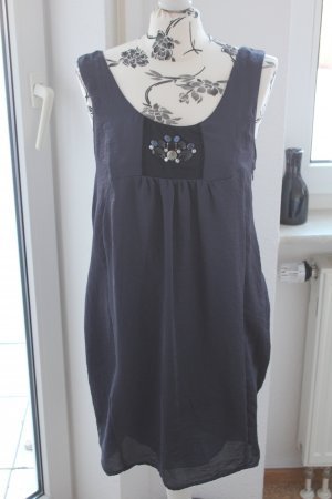 100 Robe bleu foncé-noir