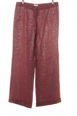 Mötivi Pantalone di lino bordeaux stile semplice