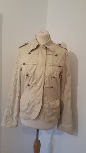 Mötivi Militäry Design Jacke beige Übergangsjacke Größe 38