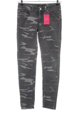 Mötivi Slim Jeans hellgrau-schwarz Camouflagemuster Casual-Look