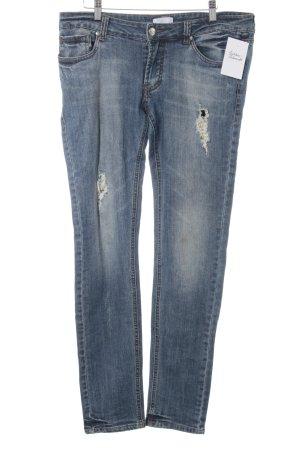 Mötivi Slim Jeans kornblumenblau Destroy-Optik