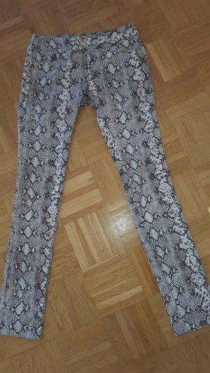 Mötivi Pantalone cinque tasche marrone scuro-sabbia Cotone