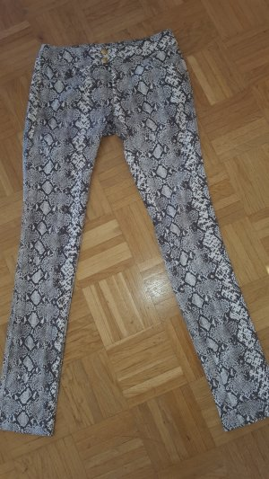Mötivi Pantalon cinq poches brun foncé-brun sable coton