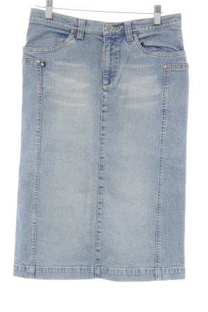 Mogul Jeansrock graublau-blassblau meliert Jeans-Optik