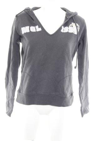 Mogul Kapuzensweatshirt dunkelgrau Schriftzug gestickt Casual-Look