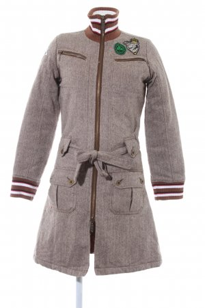 Mogul Lange Jacke Fischgrätmuster Casual-Look