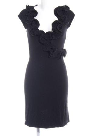 Mogul Vestido de tubo negro estilo extravagante