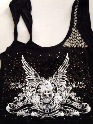 Mogul Shirt schwarz mit Perlen