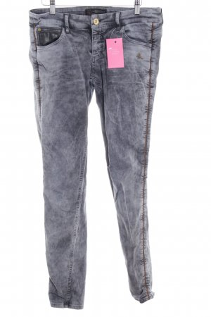 Mogul Skinny Jeans dunkelgrau-grau Batikmuster Casual-Look