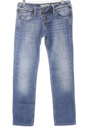 Mogul Slim Jeans stahlblau Used-Optik