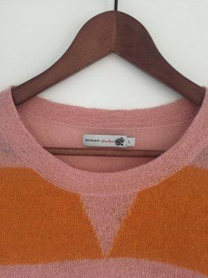 Mohair-Pullover, Rosé-Orange, L