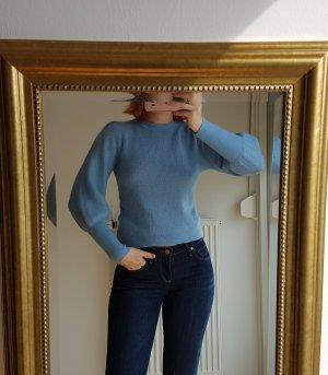 H&M Wool Sweater azure mohair