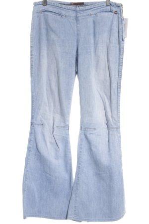 Mohave Jeans a zampa d'elefante azzurro stile casual
